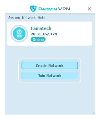 Radmin VPN app